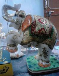 Interior Decor Marble Elephant