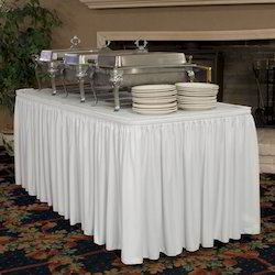 White Banquet Cotton Table Frill