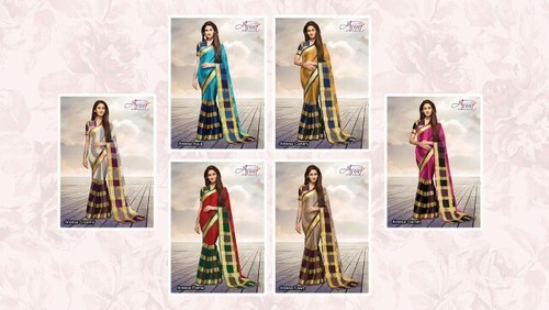 Pure Cotton Silk Sarees with Blouse Piece