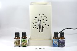 White Electric Aroma Oil Diffuser