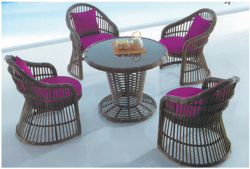 Cany Style Wicker Outdoor Coffee Set
