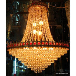 Glass chandeliers in firozabad uttar pradesh manufacturers crystal beads glass jhumar mozeypictures Images