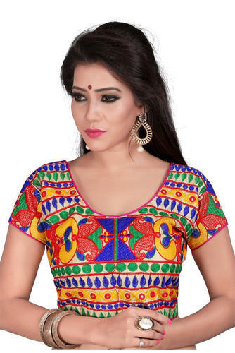 2772168b9fa65 Stitched Cotton Designer Party Wear Multi Color Readymade Blouse ...