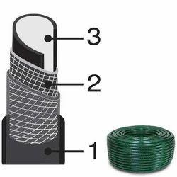 Transparent MONOFLEX 3 Ply Reinforced Hose, Size: 1 inch