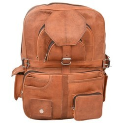 Genuine Leather Laptop Backpack BP101