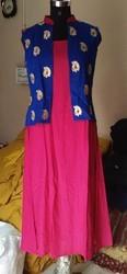 Rayon Embroidery Jacket Kurti