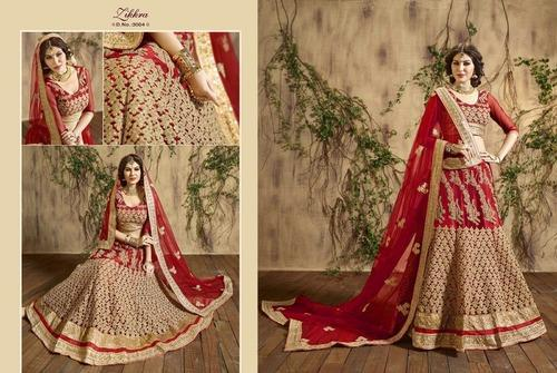 a28f0d9ec1f Designer Maroon And Gold Net Bridal Lehenga at Rs 8950  piece(s ...