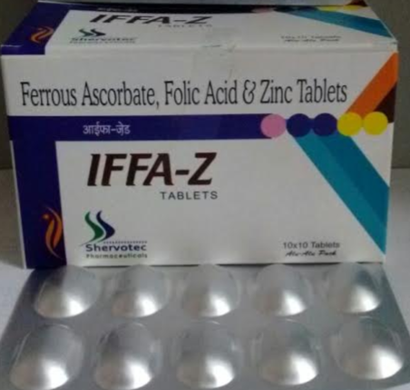 Folic Acid And Zinc Tablet Nutraceuticals Dietary Supplements