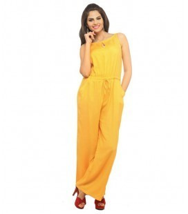 release date: best sell huge inventory Limerence Yellow Rayon Jumpsuit at Rs 494.67 /piece(s) | Panchkula ...