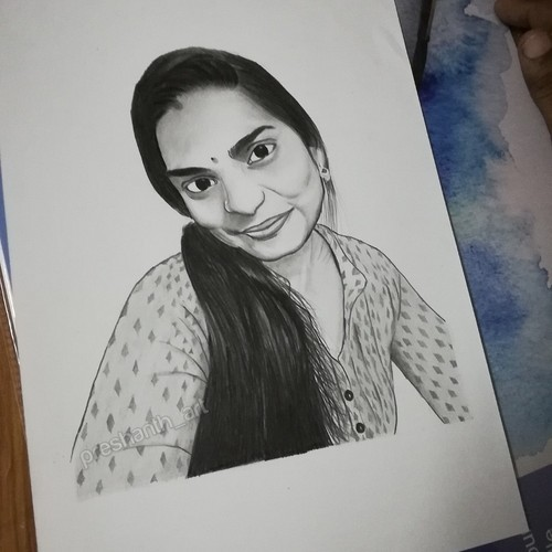 Amazing pencil portrait from your photo A4