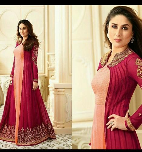 Designer Full Length Dress With Long Embroidered Shrug At Rs 1999