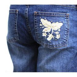 Jeans Embroidery Printing  Work