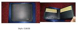 Black Male Leather Wallet CLW38, Size: Normal