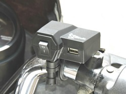 i-Birds Black Mobile Charger for Motorcycle