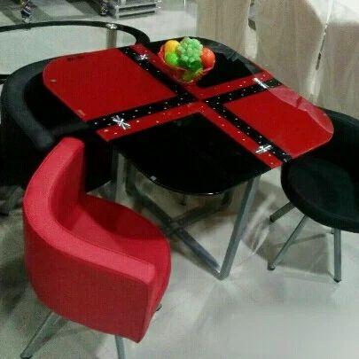 Red And Black Imported Dining Set Rs 9500 Set Pratik Enterprises Id 14240421888