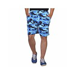 Medium And Large Blue Men Knit Shorts