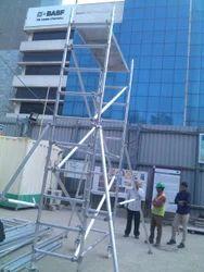 Aluminum Single Width Scaffolding Tower
