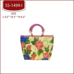 Pink Purple Green Red Gift Bags Printed Ethnic Bags