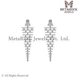 Pave Diamond Chandelier Earring Jewellery