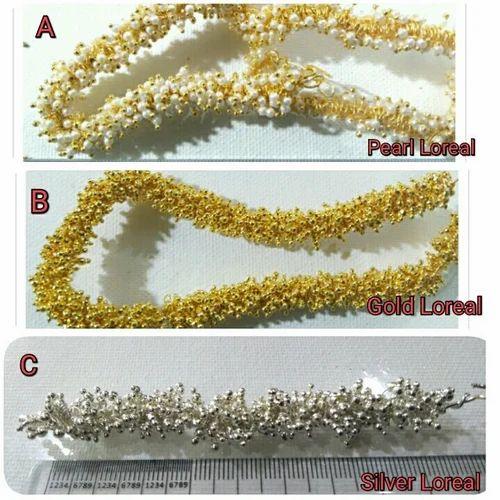 a95dcf2b22 Loreal silk Jewellery, रेशमी धागे के हार, सिल्क ...