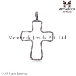 New Fashion Diamond Cross Charm