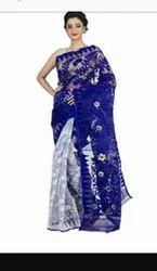 Pure Silk Party Wear And Bridal Wear Dhakai Jamdani, Without Blouse Piece