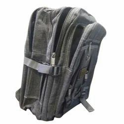 Grey Denim School Bag