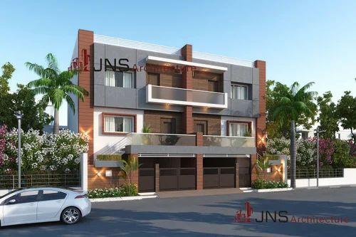 Bungalow Exterior 3D Design in Rajkot, Rajpath Point by JNS Design ...