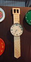 Wooden Wrist Wall Clock