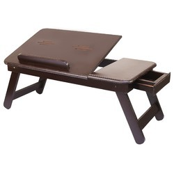 Dark Brown Wooden Laptop Table
