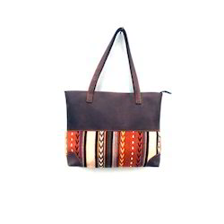Jacquard Leather Bag