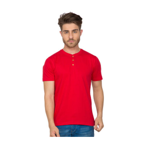 a44a3d63d01 Cotton Mens Red Color T Shirt