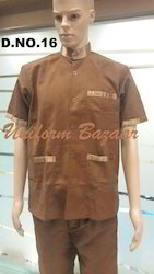 Brown With Satin Piping Top
