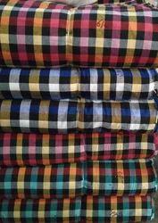 Cotton Gadda Check Fabric, Waves, Multicolour