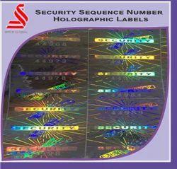 Custom Security Sequential Number Hologram Labels