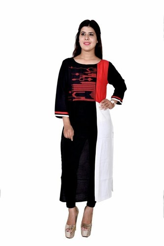 S ,xxl Red Ladies Kurti