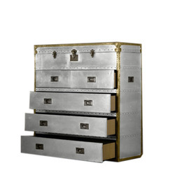 Aviator Trunk and Chest Of Drawer