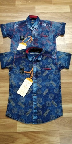 586740ff31 Rose Land Festive Wear Kids Denim Shirt