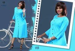 Designer Rayon Plain Kurti