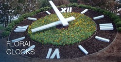 Decorative Floral Clocks