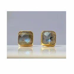 Labradorite Stud Gemstone Earring