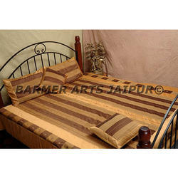 Silk Embroidery Designer Bed Cover