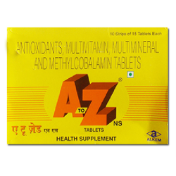 A to Z Men Calcium Medicines, Packaging Size: 150 Tablets