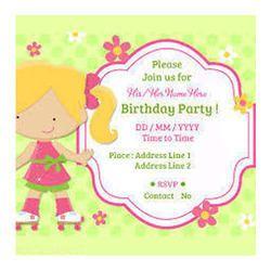 Birthday invitation card in bengaluru karnataka manufacturers birthday invitation card stopboris Choice Image