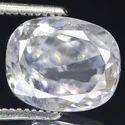 White Zircon Precious Gemstone