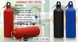 A&BM Stainless Steel Carabiner Matt Bottle, Capacity: 750mL