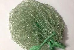 Green Amethyst Cut Drilled Round Balls
