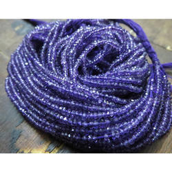 Natural Amethyst Rondelle Beads Faceted
