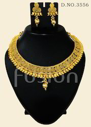 Antique Handmade Golden Necklace Set