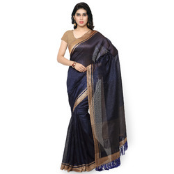 Fancy Tussar Art Silk Printed  Saree